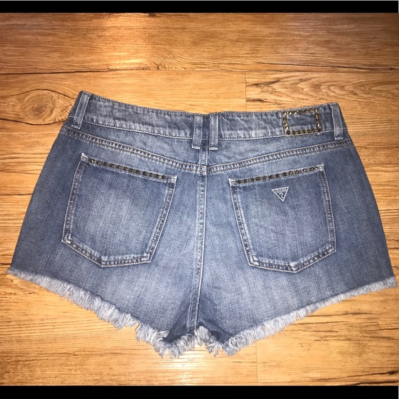 Guess Pants - Guess jean shorts with gold studs!